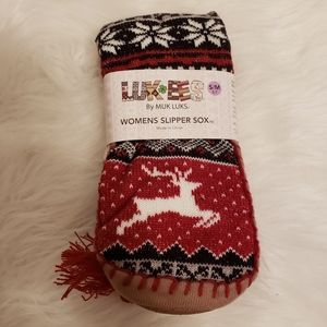 Ladies Muk Luks  Luk Ees Slipper Socks Rei…